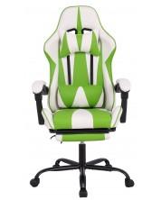 Геймърски стол RFG - Max Game, бял/зелен