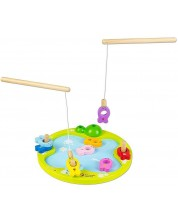 Детска дървена игра с магнити Classic World – Риболов