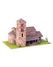 Сглобяем модел Domus Kits - Романика 2, Църква St. Joan de Caselles, Макет с истински тухли