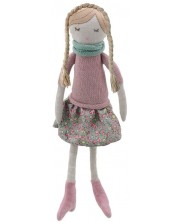 Парцалена кукла The Puppet Company - Розово момиче, 38 cm