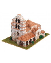 Сглобяем модел Domus Kits - Романика 10, Църква, St. Salvador de Cantamuda, Макет с истински тухли
