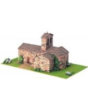 Сглобяем модел Domus Kits - Романика 1, Църква St. Pere d´Auira, Макет с истински тухли