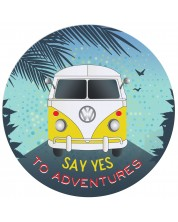 Табелка-картичка - Say yes to adventures -1