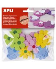 Самозалепващи цветя Apli - От Eva гума, 40 броя