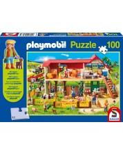 Пъзел Schmidt Playmobil от 100 части - Ферма