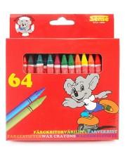Цветни пастели Sense – 64 броя