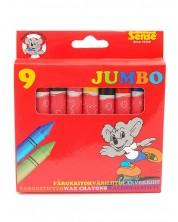 Цветни пастели Sense – Jumbo, 9 броя