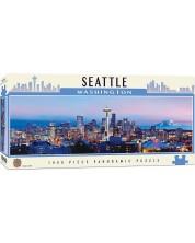 Панорамен пъзел Master Pieces от 1000 части - Сиатъл, Вашингтон -1