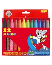 Цветни флумастери Sense – Jumbo, 12 броя