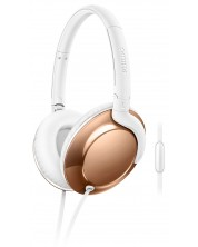 Слушалки Philips SHL4805RG Flite Everlite - бели/златисти