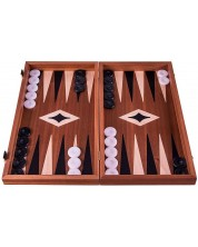 Комплект шах и табла Manopoulos - Махагон -1