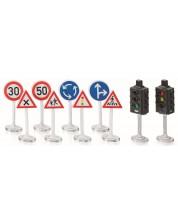 Игрален комплект Siku World - Пътни знаци и светофари