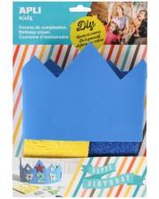Творчески комплект Apli - Декорирай сам синя корона