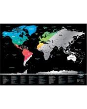 Скреч карта на света 101 (цветна) -1