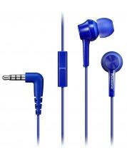 Слушалки с микрофон Panasonic RP-TCM115E-A - сини