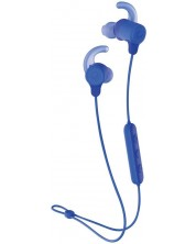 Слушалки с микрофон Skullcandy - JIB+ Active Wireless, cobalt blue -1