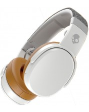 Слушалки с микрофон Skullcandy - Crusher Wireless, gray/tan -1