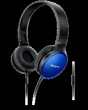 Слушалки с микрофон Panasonic RP-HF300ME-A - сини