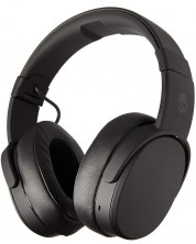 Слушалки с микрофон Skullcandy - Crusher Wireless, black/coral -1