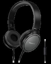 Слушалки с микрофон Panasonic RP-HF500ME-K - черни