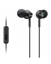 Слушалки с микрофон Sony MDR-EX110AP - черни -1
