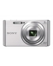 Фотоапарат Sony Cyber Shot DSC-W830, Сребрист + Transcend 8GB micro SDHC UHS-I Premium (with adapter, Class 10) -1
