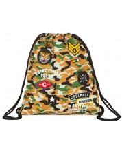 Спортен сак с връзки Cool Pack Spring - Camo Desert Badges
