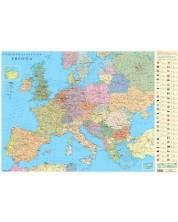 Политическа стенна карта на Европа (1:4 500 000)