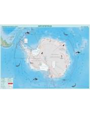 Стенна физикогеографска карта на Антарктида (1:7 000 000)