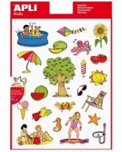 Комплект стикери APLI - Лято, 66 броя -1
