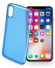 Калъф за iPhone X Cellularline -  Style, син