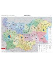 Промишленост, брутен вътрешен продукт - стопанска стенна карта на България (1:360 000)