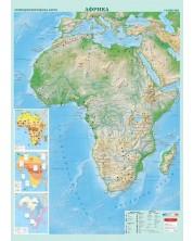 Стенна физикогеографска карта на Африка (1:8 000 000)