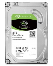 "Твърд диск  Seagate - BarraCuda, 2TB, 7200rpm, 3.5"" -1"