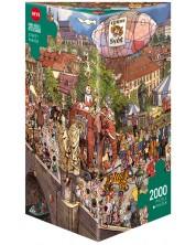 Пъзел Heye от 2000 части - Уличен парад, Доро Гьобел и Питър Кнор -1