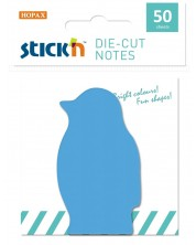 Самозалепващи листчета Stick'n - Пингвин, 50 броя, сини