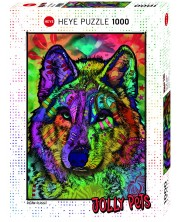 Пъзел Heye от 1000 части - Душата на вълка, Дийн Русо