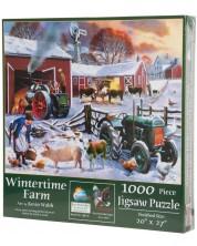 Пъзел SunsOut от 1000 части - Зима във фермата, Кевин Уолш