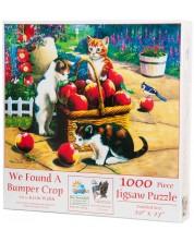 Пъзел SunsOut от 1000 части - Намерихме кошницата с реколтата, Кевин Уолш