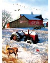 Пъзел SunsOut от 1000 части - Тракторът във фермата, Грег Джордано
