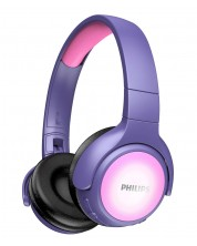 Детски безжични слушалки Philips - TAKH402PK, лилави -1