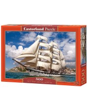 Пъзел Castorland от 500 части - Кораб, отплаващ от пристанището -1
