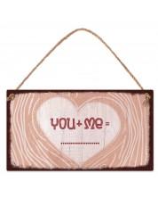 Табелка - Сърце - You+Me -1