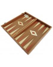 Комплект шах и табла Manopoulos - Махагон с червен борд, 38 x 20 cm -1