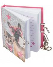 Таен дневник Paso Studio Pets - Куче с очила, 80 листа -1