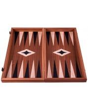 Комплект шах и табла Manopoulos - Махагон с черен борд, 38 x 20 cm -1