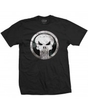 Тениска Rock Off Marvel Comics - Punisher Metal Badge