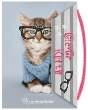 Тефтер с магнитно затваряне Paso Rachael Hale - Clever Kitty, 80 листа -1