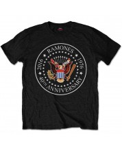 Тениска Rock Off Ramones - 40th Anniversary Seal