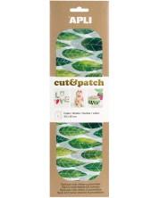 Хартия за декорация APLI - Зелени листа, 3 листа -1